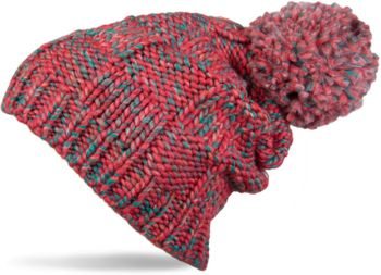 styleBREAKER knitted hat with pompom and structural patterns, multi-colored design 04024014 – Bild 4