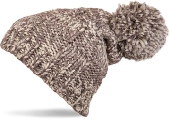 styleBREAKER knitted hat with pompom and structural patterns, multi-colored design 04024014 – Bild 3