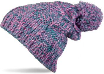 styleBREAKER knitted hat with pompom and structural patterns, multi-colored design 04024014 – Bild 5