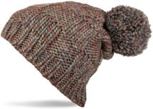 styleBREAKER knitted hat with pompom and structural patterns, multi-colored design 04024014 – Bild 1