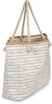 styleBREAKER Damen XXL Strandtasche mit Streifen und Melone Früchte Print, Reißverschluss, Schultertasche, Shopper 02012287 – Bild 17