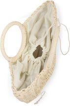 styleBREAKER Damen Halbrunde Korbtasche geflochten mit Kordelzug Verschluss, Bali Bag, Strandtasche, Henkeltasche 02012290 – Bild 11