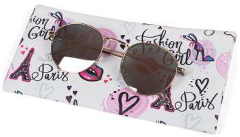 styleBREAKER Etui für Sonnenbrillen mit Comic, Love, Spruch Aufdruck und Putztuch, Brillenetui mit Schnappverschluss, Unisex 09020100 – Bild 4