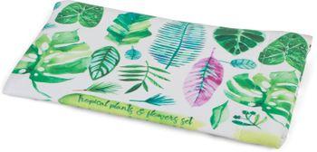 styleBREAKER Etui für Sonnenbrillen mit Palmen Blätter Print und Putztuch, Brillenetui mit Schnappverschluss, Unisex 09020101 – Bild 2