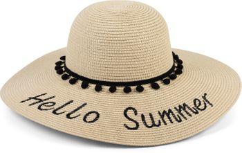 styleBREAKER Damen Strohhut mit 'Hello Summer' Spruch und Band mit Quasten, Sonnenhut, Schlapphut, Sommerhut, Hut 04025023 – Bild 15