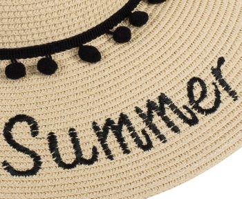 styleBREAKER Damen Strohhut mit 'Hello Summer' Spruch und Band mit Quasten, Sonnenhut, Schlapphut, Sommerhut, Hut 04025023 – Bild 18