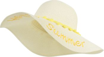 styleBREAKER Damen Strohhut mit 'Hello Summer' Spruch und Band mit Quasten, Sonnenhut, Schlapphut, Sommerhut, Hut 04025023 – Bild 6