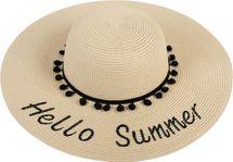 styleBREAKER Damen Strohhut mit 'Hello Summer' Spruch und Band mit Quasten, Sonnenhut, Schlapphut, Sommerhut, Hut 04025023 – Bild 17