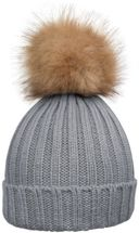 styleBREAKER Women's classic knit hat with large fur bobble and ribbed pattern 04024009 – Bild 13