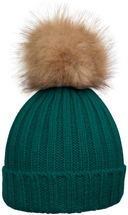 styleBREAKER Women's classic knit hat with large fur bobble and ribbed pattern 04024009 – Bild 9