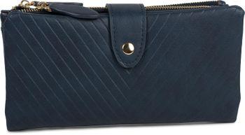 styleBREAKER Damen Portemonnaie mit V-Förmig geprägter Struktur, Druckknopf, Reißverschluss Geldbörse 02040124 – Bild 8