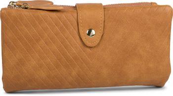 styleBREAKER Damen Portemonnaie mit V-Förmig geprägter Struktur, Druckknopf, Reißverschluss Geldbörse 02040124 – Bild 11