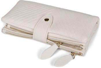styleBREAKER Damen Portemonnaie mit V-Förmig geprägter Struktur, Druckknopf, Reißverschluss Geldbörse 02040124 – Bild 20