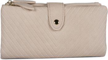 styleBREAKER Damen Portemonnaie mit V-Förmig geprägter Struktur, Druckknopf, Reißverschluss Geldbörse 02040124 – Bild 25
