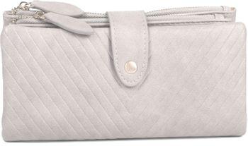 styleBREAKER Damen Portemonnaie mit V-Förmig geprägter Struktur, Druckknopf, Reißverschluss Geldbörse 02040124 – Bild 13