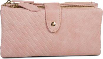 styleBREAKER Damen Portemonnaie mit V-Förmig geprägter Struktur, Druckknopf, Reißverschluss Geldbörse 02040124 – Bild 6