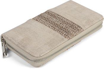 styleBREAKER Damen Portemonnaie mit Webstoff und Antik-Look, Reißverschluss, Geldbörse 02040125 – Bild 6