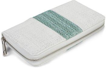 styleBREAKER Damen Portemonnaie mit Webstoff und Antik-Look, Reißverschluss, Geldbörse 02040125 – Bild 2