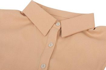 styleBREAKER Damen Blusenkragen Einsatz mit Knopfleiste Unifarben, Kragen für Blusen und Pullover 08020004 – Bild 11