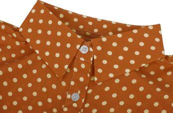 styleBREAKER Damen Blusenkragen Einsatz mit Punkte Muster und Knopfleiste, Kragen für Blusen und Pullover, Rockabilly Style 08020005 – Bild 20