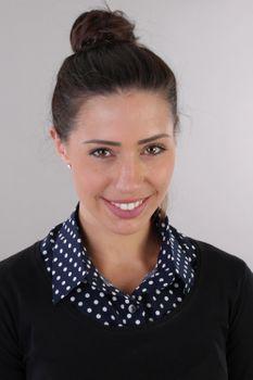 styleBREAKER Damen Blusenkragen Einsatz mit Punkte Muster und Knopfleiste, Kragen für Blusen und Pullover, Rockabilly Style 08020005 – Bild 35