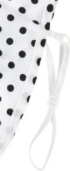styleBREAKER Damen Blusenkragen Einsatz mit Punkte Muster und Knopfleiste, Kragen für Blusen und Pullover, Rockabilly Style 08020005 – Bild 6