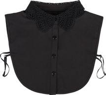 styleBREAKER Damen Blusenkragen Einsatz mit Kragen in Häkelspitze Optik und Knopfleiste, Kragen für Blusen und Pullover 08020006 – Bild 1