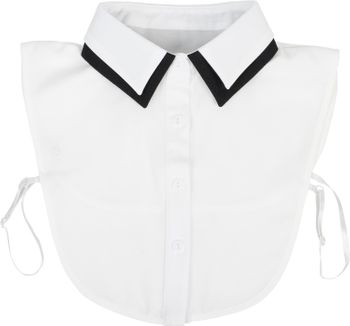 styleBREAKER Damen Blusenkragen Einsatz mit farblich abgesetztem Kragen und Knopfleiste, Kragen für Blusen und Pullover 08020008 – Bild 1
