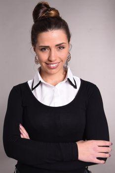 styleBREAKER Damen Blusenkragen Einsatz mit farblich abgesetztem Kragen und Knopfleiste, Kragen für Blusen und Pullover 08020008 – Bild 7