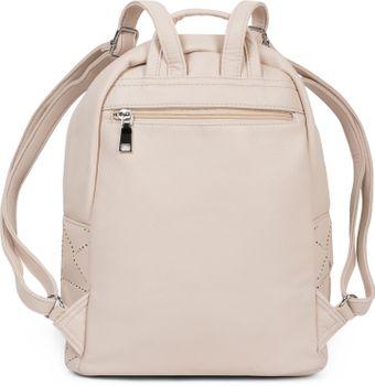 f4ad0b006a0a8 styleBREAKER Damen Rucksack Handtasche mit geometrischen Cutouts