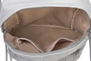 styleBREAKER Damen Rucksack Handtasche mit geometrischen Cutouts, Reißverschluss, Tasche 02012293 – Bild 6
