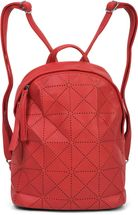 styleBREAKER Damen Rucksack Handtasche mit geometrischen Cutouts, Reißverschluss, Tasche 02012293 – Bild 44