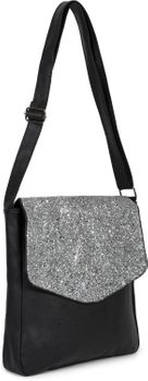 styleBREAKER Damen Messenger Bag Umhängetasche mit Pailletten Überschlag, Schultertasche, Crossbody Bag, Tasche 02012294 – Bild 8