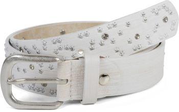 styleBREAKER Damen Gürtel mit Sternchen Nieten und Strass, Oberfläche in Pinselstrich Optik, Vintage Nietengürtel, kürzbar 03010096 – Bild 12