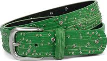 styleBREAKER Damen Gürtel mit Sternchen Nieten und Strass, Oberfläche in Pinselstrich Optik, Vintage Nietengürtel, kürzbar 03010096 – Bild 22
