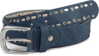styleBREAKER Damen Gürtel einfarbig mit ovalem Cutout Muster und Strass, Strassgürtel, kürzbar 03010097 – Bild 15