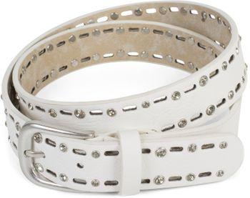 styleBREAKER Damen Gürtel einfarbig mit ovalem Cutout Muster und Strass, Strassgürtel, kürzbar 03010097 – Bild 20