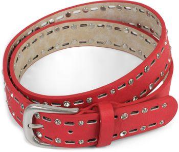 styleBREAKER Damen Gürtel einfarbig mit ovalem Cutout Muster und Strass, Strassgürtel, kürzbar 03010097 – Bild 8