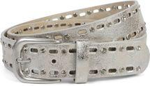 styleBREAKER Damen Gürtel einfarbig mit ovalem Cutout Muster und Strass, Strassgürtel, kürzbar 03010097 – Bild 28
