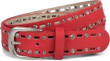 styleBREAKER Damen Gürtel einfarbig mit ovalem Cutout Muster und Strass, Strassgürtel, kürzbar 03010097 – Bild 7