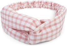styleBREAKER Damen Haarband mit Karo Muster, Twist Knoten und Gummizug, Stirnband, Headband, Pinup, Rockabilly 04026037 – Bild 3