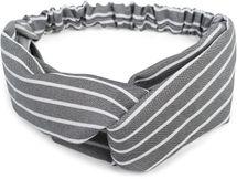 styleBREAKER Damen Haarband mit Streifen Muster, Twist Knoten und Gummizug, Stirnband, Headband, Pinup, Rockabilly 04026038 – Bild 1