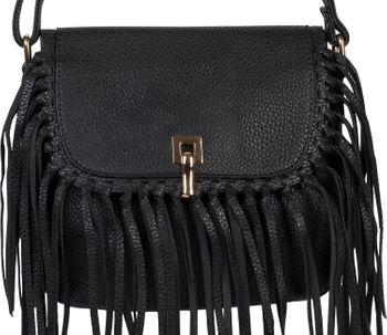 styleBREAKER Damen Umhängetasche mit Fransen und Steckverschluss, Schultertasche, Fringe Bag, Crossbody Bag 02012300 – Bild 14