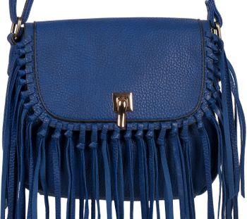 styleBREAKER Damen Umhängetasche mit Fransen und Steckverschluss, Schultertasche, Fringe Bag, Crossbody Bag 02012300 – Bild 20