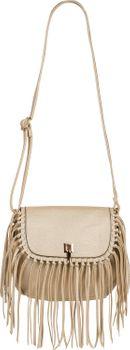 styleBREAKER Damen Umhängetasche mit Fransen und Steckverschluss, Schultertasche, Fringe Bag, Crossbody Bag 02012300 – Bild 25