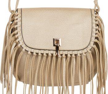 styleBREAKER Damen Umhängetasche mit Fransen und Steckverschluss, Schultertasche, Fringe Bag, Crossbody Bag 02012300 – Bild 26