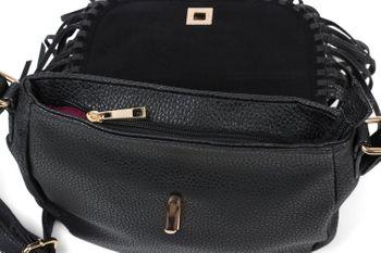 styleBREAKER Damen Umhängetasche mit Fransen und Steckverschluss, Schultertasche, Fringe Bag, Crossbody Bag 02012300 – Bild 17