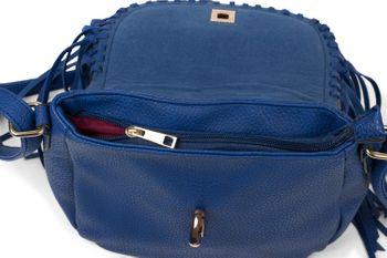 styleBREAKER Damen Umhängetasche mit Fransen und Steckverschluss, Schultertasche, Fringe Bag, Crossbody Bag 02012300 – Bild 23