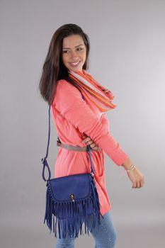 styleBREAKER Damen Umhängetasche mit Fransen und Steckverschluss, Schultertasche, Fringe Bag, Crossbody Bag 02012300 – Bild 31
