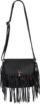 styleBREAKER Damen Umhängetasche mit Fransen und Steckverschluss, Schultertasche, Fringe Bag, Crossbody Bag 02012300 – Bild 13